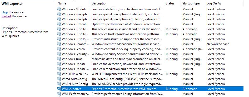 wmi-exporter-service